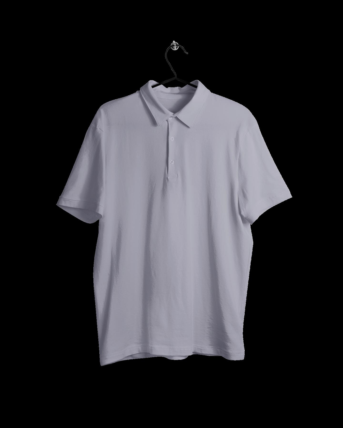 asılmış polo yaka tişört