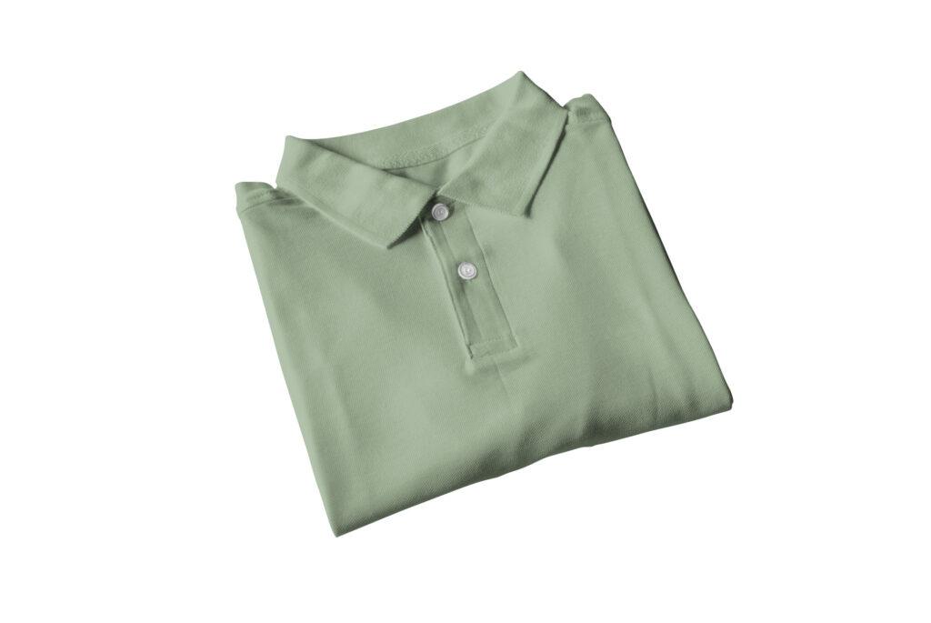 katlanmış polo yaka tişört